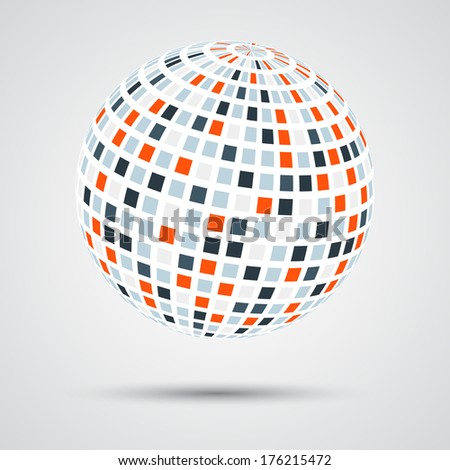 Modern creative abstract design symbol (sphere)