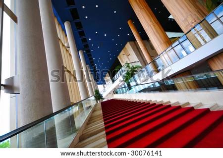 Modern culture center interior architecture - stock photo
