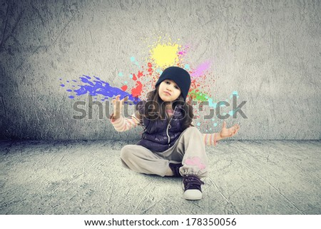 Modern dance girl - stock photo