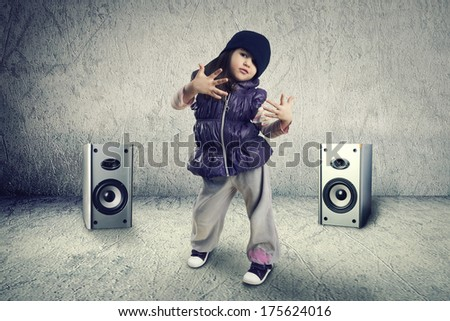 Modern dance little girl - stock photo