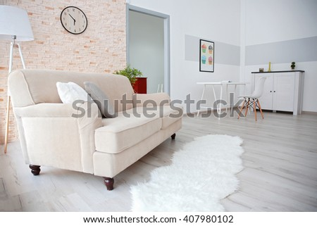 Modern design interior of room - stock photo
