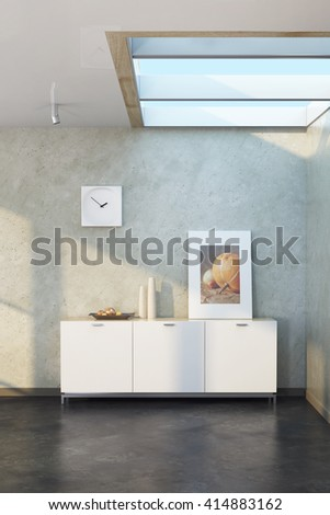 modern design of lounge room, 3d rendering - stock photo