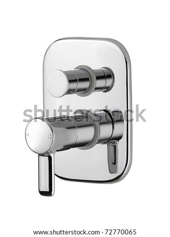 Modern design of the faucet for your modern bathroom - stock photo