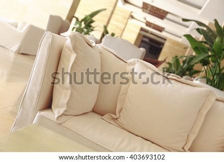 modern design sofa - stock photo