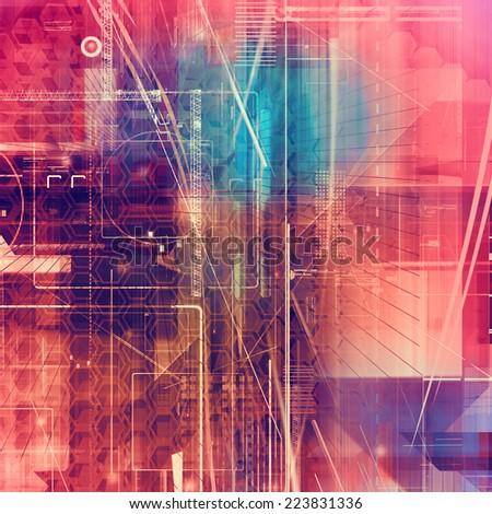modern digital background - stock photo