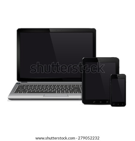 Modern digital devices - stock photo