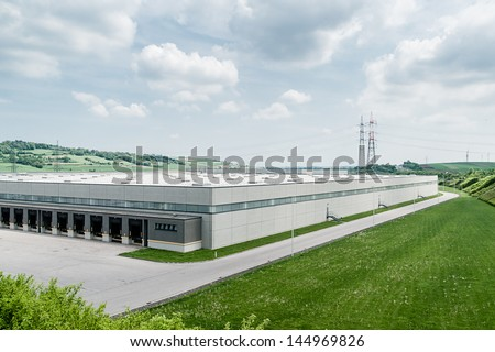 Modern Distribution Center from outside - stock photo