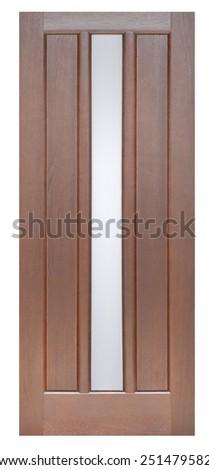 modern doors for home - stock photo