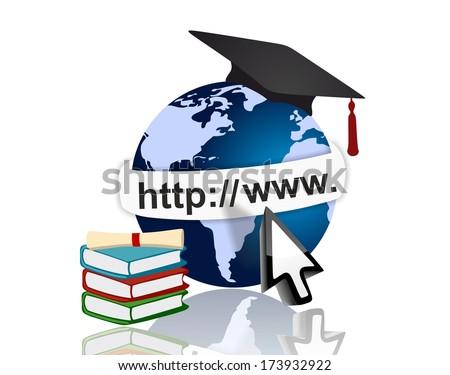 Modern e-Learning concept - stock photo