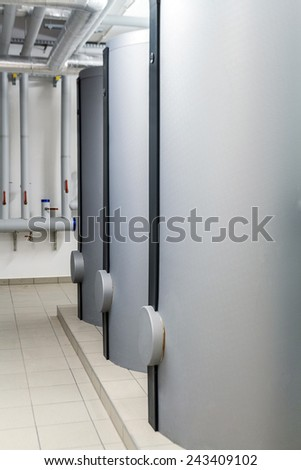 Modern efficient heating system. - stock photo