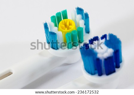 modern electrical toothbrush isolated on white background/oral hygiene - stock photo