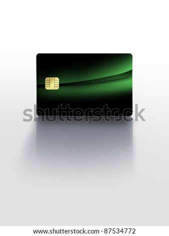 modern electronic identification card with reflection - stock photo