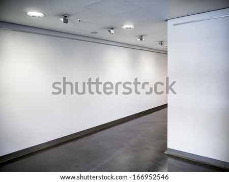 modern empty corridor - background - photo - stock photo