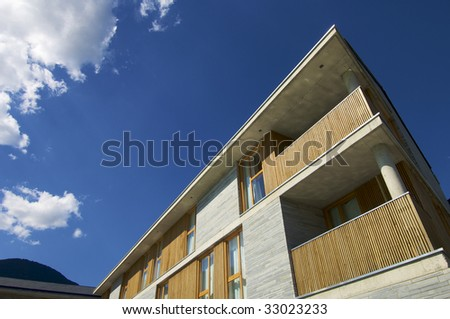modern facade - stock photo