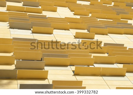 Modern facade design. Abstract architecture background. Point of view.