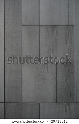 Modern Facade.Modern Facade Black.Modern Facade Texture.Cladding Boards.Cement Cladding Panels.Gray Panels.Modern Facade Exterior.Modern Facade Minimalist.Modern Facade Detail. - stock photo