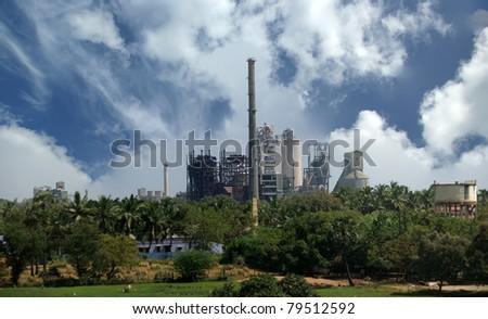 Modern factory, Kerala, South India - stock photo