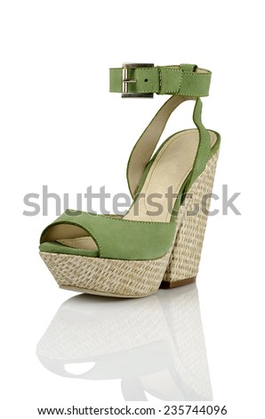Modern fashionable women shoe shot in studio