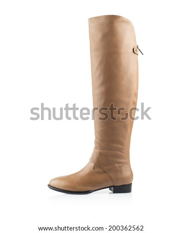 Modern fashionable women winter boot shot in studio