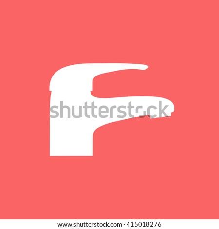 Modern Faucet icon. - stock photo