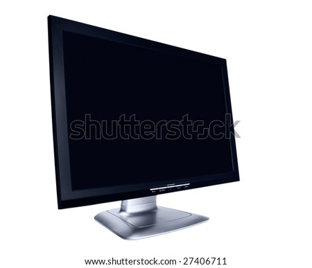 Modern flat screen LCD monitor on a white background