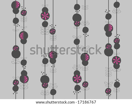 Modern floral illustrated background