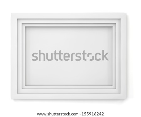 Modern frame. 3d illustration on white background  - stock photo