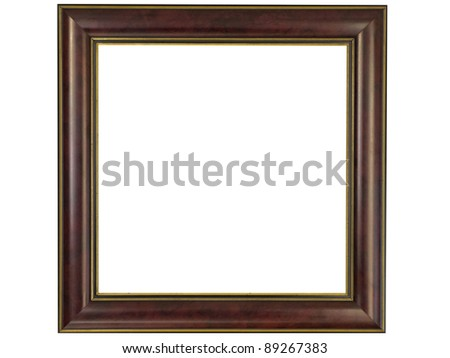 Modern frame isolated on white - stock photo