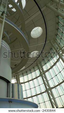 modern futuristic interior elements - stock photo