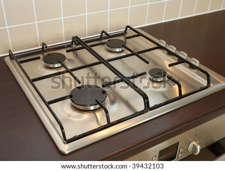 Modern gas hob - stock photo