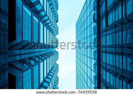 modern glass building in hongkong - stock photo