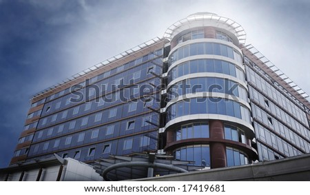 Modern glass business hotel - stock photo