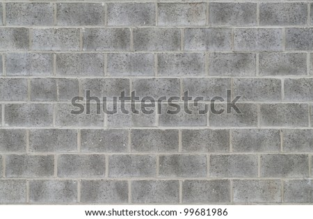 Modern grey brick wall for background or texture - stock photo