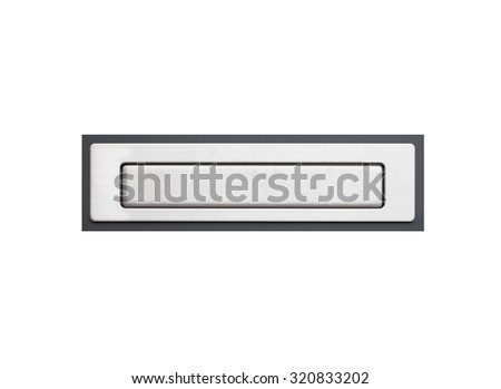 Modern grey color metal letter box isolated on white background - stock photo
