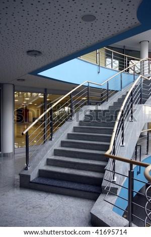 modern hall inside office centre - stock photo