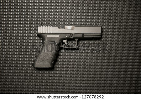 Modern Handgun - stock photo