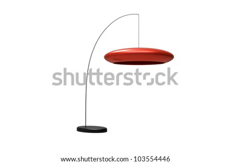 Modern Hanging Lamp isolated on a white background - stock photo