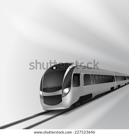 Modern high speed train 2.