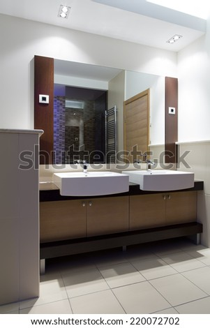 Modern home bathroom - stock photo