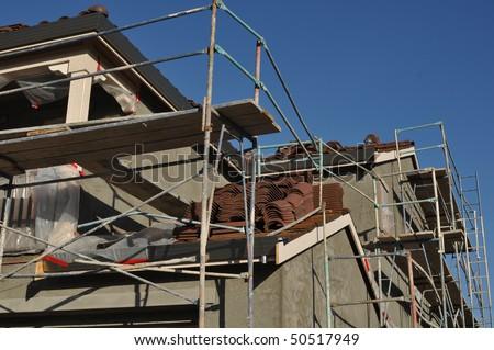 Construction Site Crane Building Stock Photo 203773906 ...