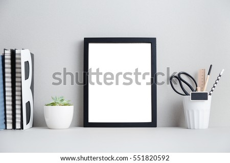 Modern bright interior 3d render stock illustration for Modern home decor objects