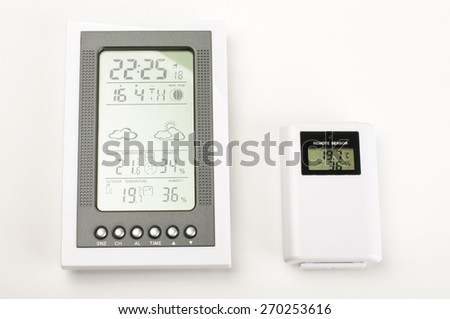 Modern home weather station isolated - stock photo