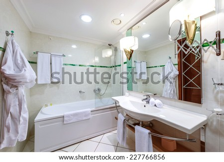 Modern hotel bathroom interior