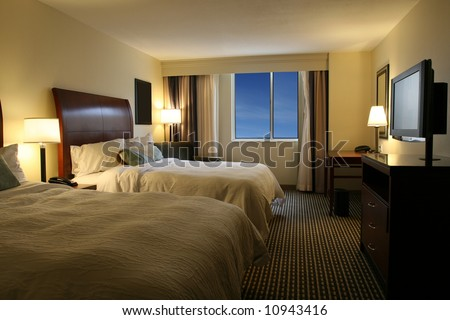 Modern Hotel Suite - stock photo