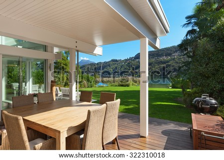Modern House Beautiful Veranda Furniture Stock Photo 322310018