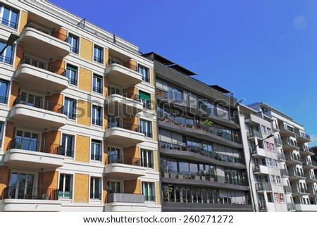 Modern House Line - stock photo
