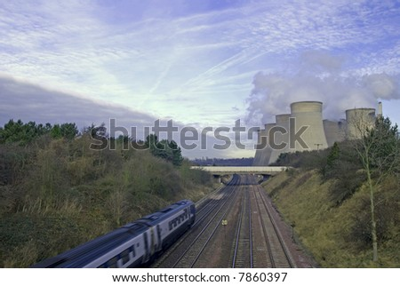 Modern industrial landscape in the UK - stock photo