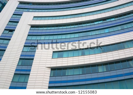 Modern industrial or office building close-up - stock photo