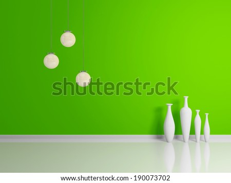 Modern interior abstract composition. - stock photo
