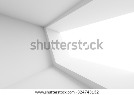 Modern Interior Design. Abstract White Background - stock photo